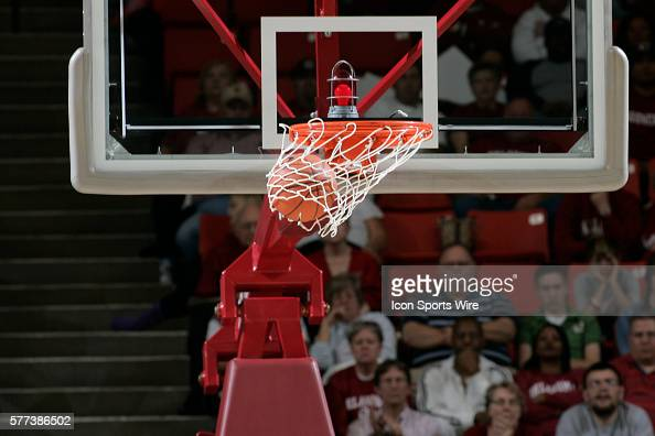 A shot is made during the University of Oklahoma Sooners 8079 loss to the University of North Carolina Tar Heels during the finals of the Women's NIT...