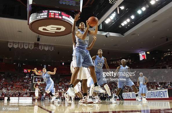 North Carolina center Martina Wood grabs a rebound during the University of Oklahoma Sooners 8079 loss to the University of North Carolina Tar Heels...