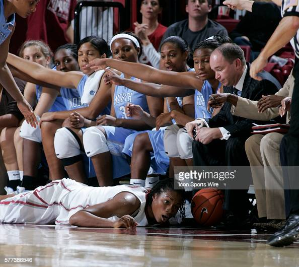 Oklahoma guard Danielle Robinson makes a dive for the ball during the University of Oklahoma Sooners 8079 loss to the University of North Carolina...