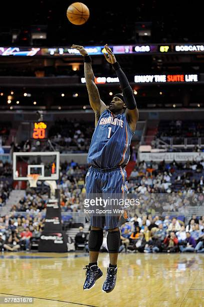 Charlotte Bobcats shooting guard Stephen Jackson in action against the Washington Wizards at the Verizon Center in Washington DC where the Charlotte...