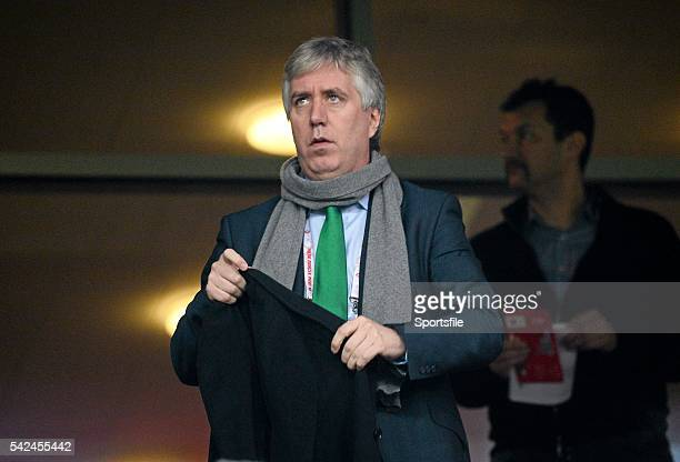 19 November 2013 FAI Chief Executive John Delaney in attendance at the game Friendly International Poland v Republic of Ireland Municipal Stadium...