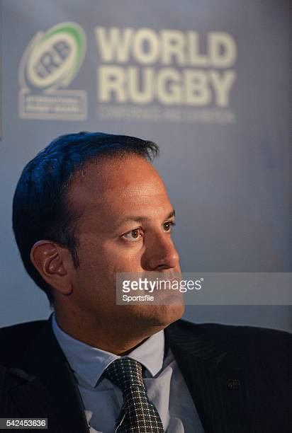 18 November 2013 Minister for Transport Tourism and Sport Leo Varadkar TD at the IRB World Rugby conference and exhibition Ballsbridge Hotel Dublin...
