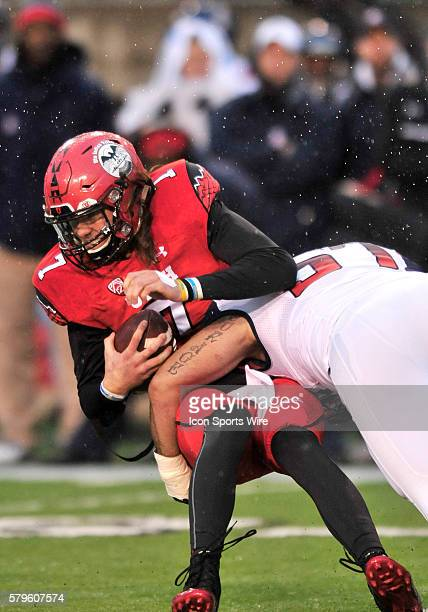Utah Utes quarterback Travis Wilson gets sacked by Arizona during a game between Arizona and Utah The Arizona Wildcats defeated the Utah Utes 4210 at...