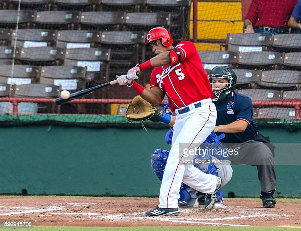 Criollos Hector Olivera during an LBPRC Baseball game between the Criollos de Caguas and the Cangrejeros de Santurce at the Parque Yldefonso Solá...