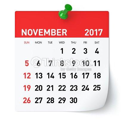 November 2017 - Calendar : Foto de stock