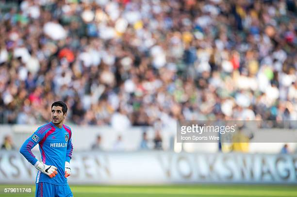 November 23 2014 Los Angeles Galaxy goalkeeper Jaime Penedo looks at the clock during the Western Conference Finals game between Seattle Sounders FC...