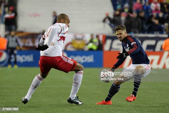 New York Red Bulls' Thierry Henry slips past New England Revolution's Chris Tierney The New York Red Bulls and the New England Revolution played to a...