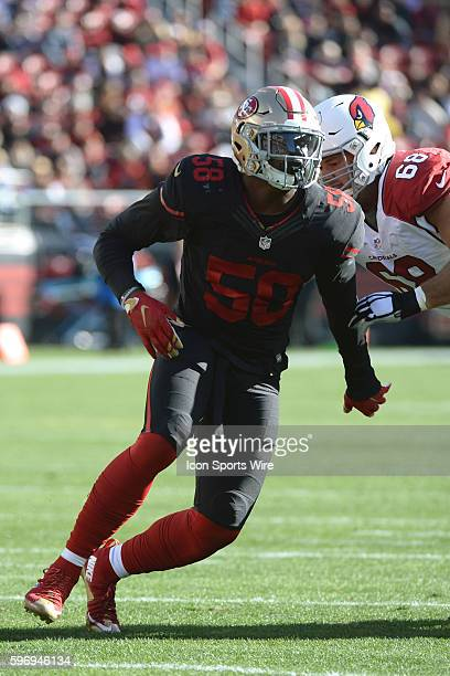Linebacker Eli Harold of the San Francisco 49ers during a 49ers 1913 loss to the Arizona Cardinals at Levi's Stadium in Santa Clara Ca