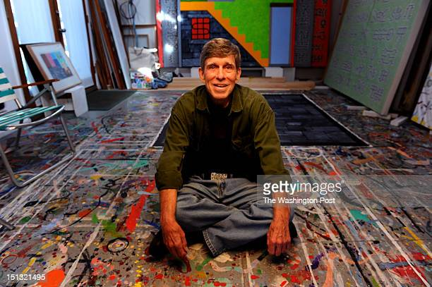 JOHN MD November 3 DC abstract artist Tom Green who has just been diagnosed with Lou Gehrig's disease in his home studio on November 3 2011 in Cabin...