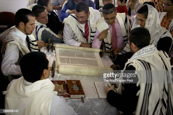 The congregation in Bello gathers round the Torah a 120yearold scroll written in Amsterdam and obtained by the community five years ago