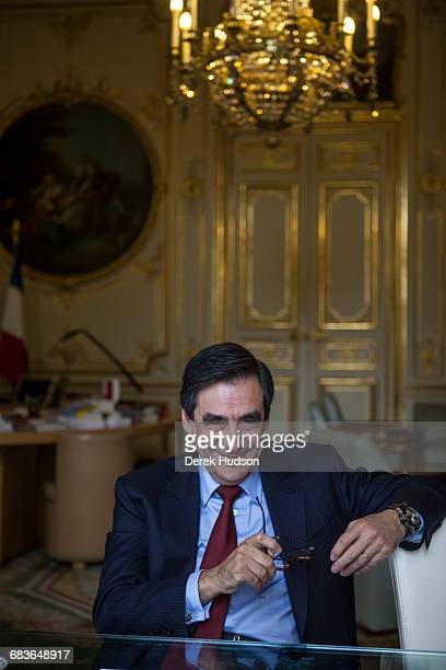 OFFICE PARIS FRANCE November 4th 2009 French Prime minister François Fillon photographed in his office as he gave an interview to journalists from...
