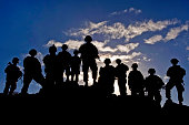 November 7, 2012 - Soldiers watch troop movements during Green Flag-West at the National Training Center, Fort Irwin, California.
