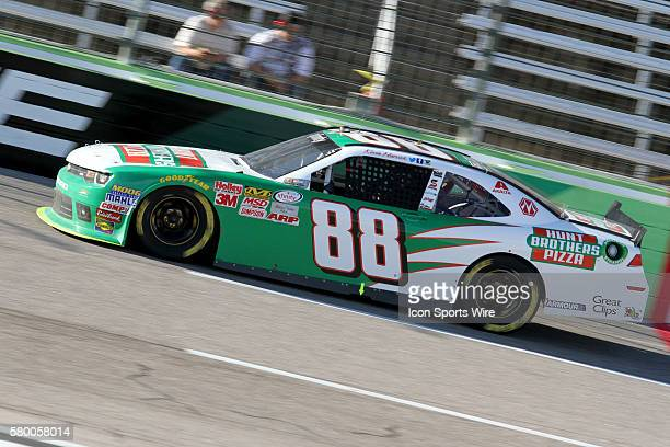 Kevin Harvick driver of the Hunts Brothers Pizza Chevy during the O'Reilly Auto Parts Challenge at Texas Motor Speedway FtWorth Texas