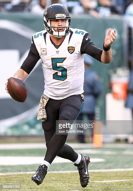 Jacksonville Jaguars Quarterback Blake Bortles [4448] in action during the game between the Jacksonville Jaguars and The New York Jets at MetLife...