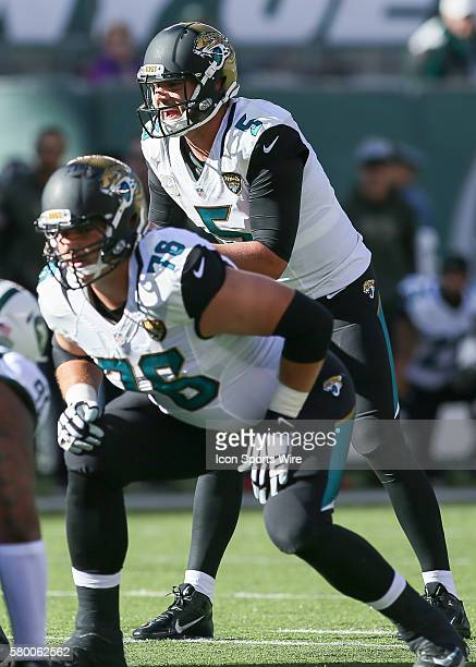 Jacksonville Jaguars Quarterback Blake Bortles [4448] calls out a play before the snap during the 1st half of the game between the Jacksonville...