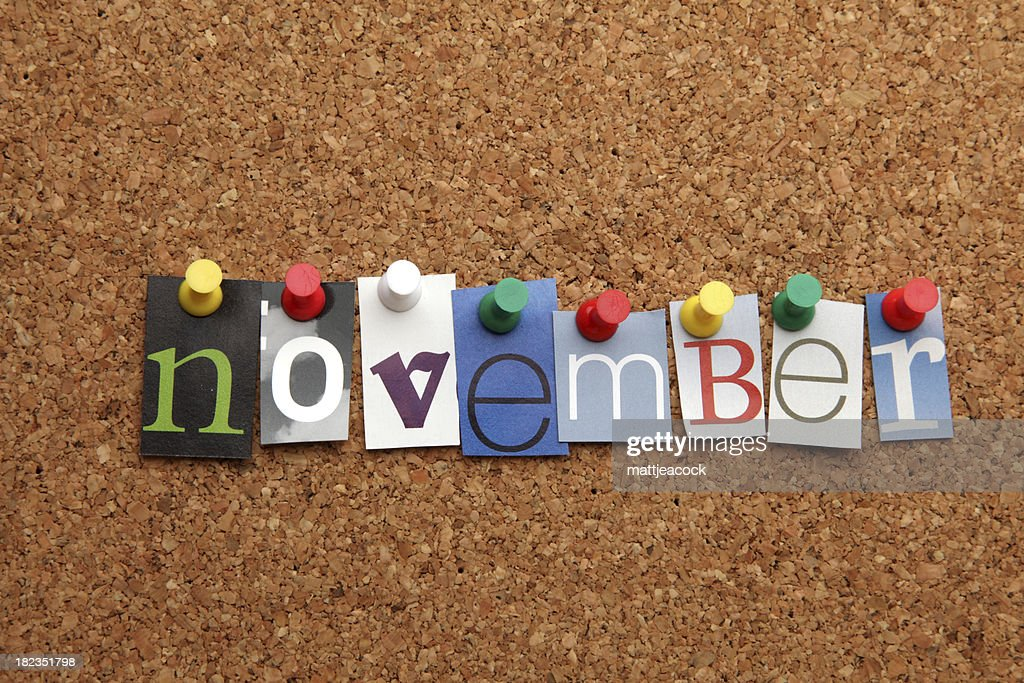 November pinned on noticeboard