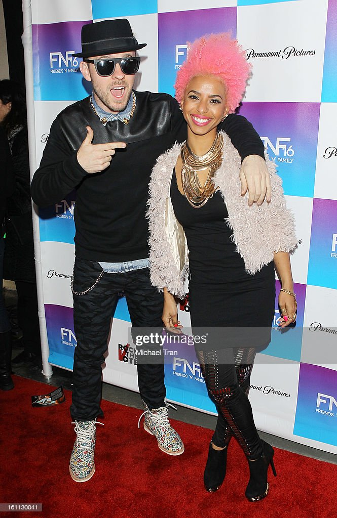 Novena Carmel (R) and Ricky Reed of Wallpaper arrive at the 16th Annual 'Friends And Family' pre-GRAMMY event held at Paramount Studios on February 8, 2013 in Hollywood, California.