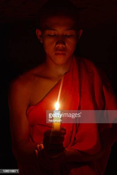 Novice buddhist monk