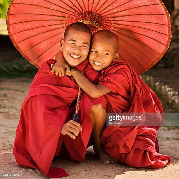 Novice Buddhist monks, Myanmar
