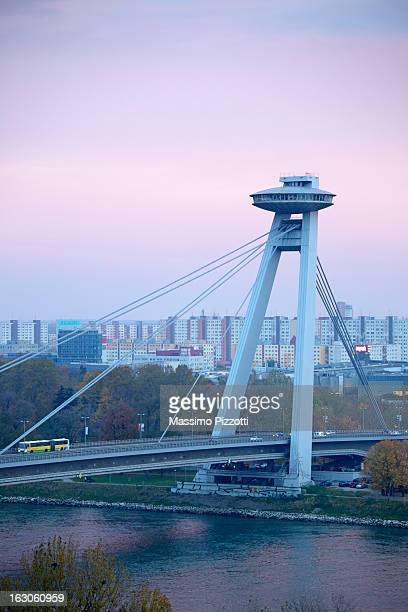 Novy Most bridge over the Danube river