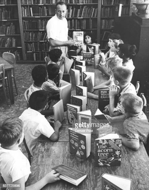 Now Here Are Some Stories You'll Like Robert Hare librarian at Columbian School 4030 Federal Blvd describes a volume of short stories to his class...