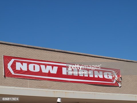 Now Hiring Sign : Stock Photo