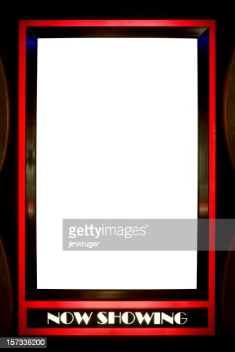 Now Showing Blank Poster Frame With Red Outline Stock ...