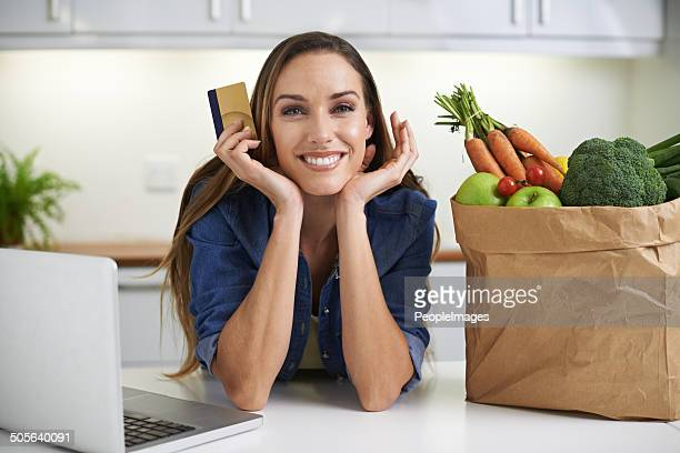 Now that I've got the groceries...online shopping!