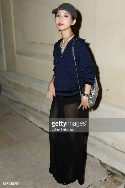 Nozomi Iijima attends the Chanel 'Code Coco' Watch Launch Party as part of the Paris Fashion Week Womenswear Spring/Summer 2018 on October 3 2017 in...