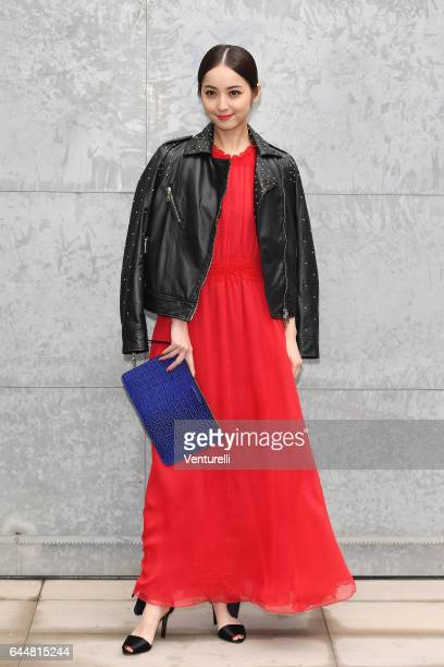 Nozomi Sasaki attends the Emporio Armani show during Milan Fashion Week Fall/Winter 2017/18 on February 24 2017 in Milan Italy