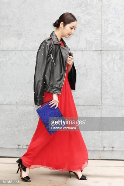 Nozomi Sasaki attends the Emporio Armani show during Milan Fashion Week Fall/Winter 2017/18 on February 24 2017 in Milan Italy