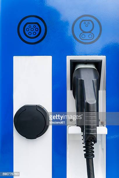 Nozzle of charging station for electric cars