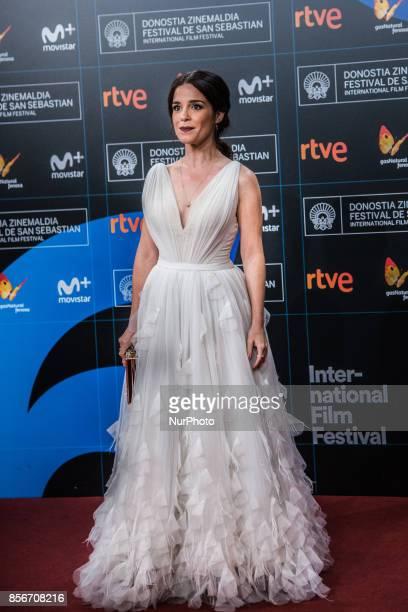 Núria Gago attends the red carpet of the closure gala during 65th San Sebastian Film Festival at Kursaal on September 30 2017 in San Sebastian Spain
