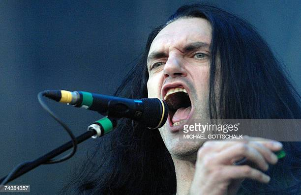 Peter Steele of the band 'Type O Negative' performs on stage 02 June 2007 during the music festival 'Rock am Ring' in Nuremberg scheduled from 01 to...