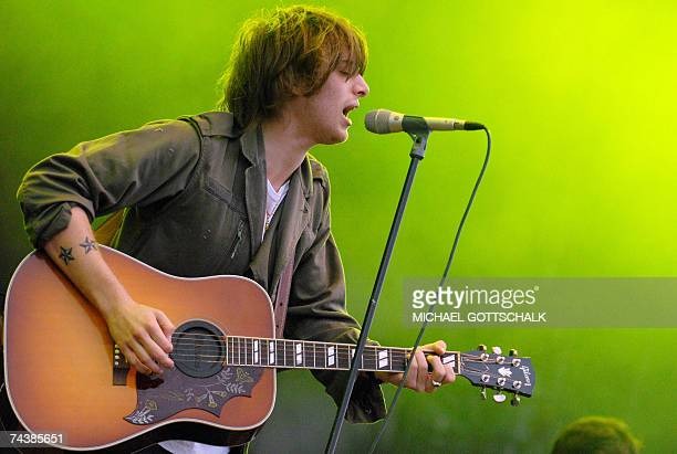 Scottish singer Paolo Nutini performs on stage 03 June 2007 during the music festival 'Rock am Ring' in Nuremberg scheduled from 01 to 03 June 2007...