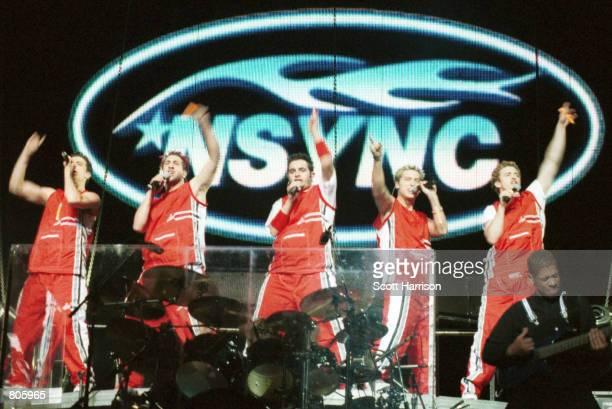 NSync performs in concert November 16 1999 in Las Vegas Nevada