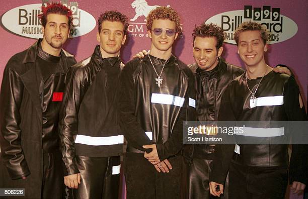 NSync poses for photographers at the 1999 Billboard Music Awards December 8 1999 in Las Vegas Nevada