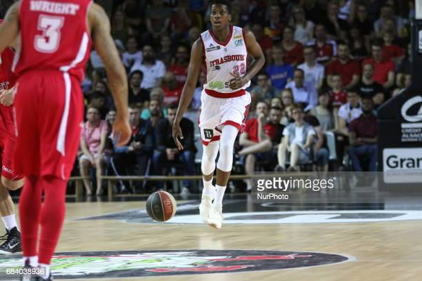 Ntilikina Frank 22 during Pro A match between SIG Strasbourg and Monaco in Strasbourg France on May 16 2017