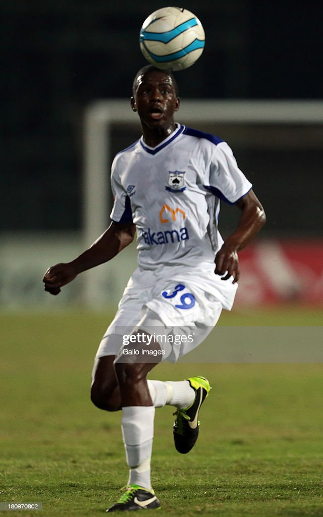 Ntuthuko Abel Mabaso MP Black Aces during the Absa Premiership match between Maritzburg United and MP Black Aces at Harry Gwala Stadium on September 18, 2013 in Durban, South Africa.