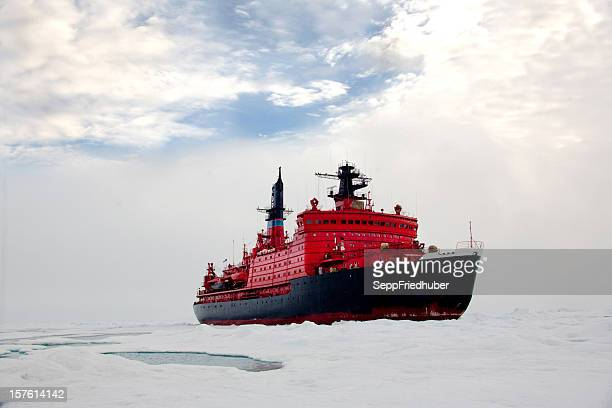 Nucear ice breaker heading to the North pole