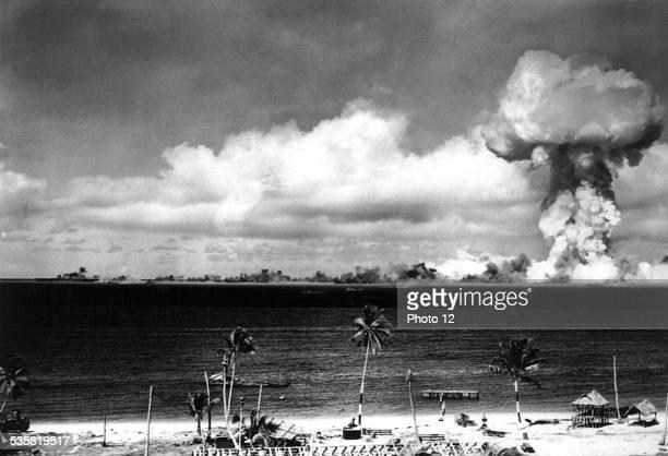 Nuclear bomb explosion in Bikini February 2 United States National Archives Washington