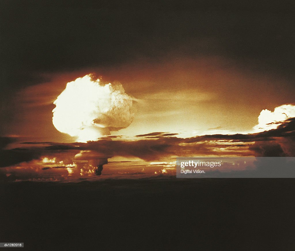 Nuclear Bomb Test, Bikini atoll and Enewetak, October 31 1952 : Stock Photo