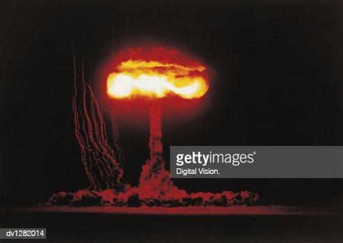 Nuclear Bomb Test, Nevada Desert, June 4 1953