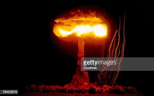 Nuclear detonation test, Nevada, 1957 : Stockfoto
