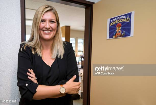 Nuclear disarmament group ICAN executive director Beatrice Fihn poses in front of her office after ICAN won the Nobel Peace Prize for its decadelong...
