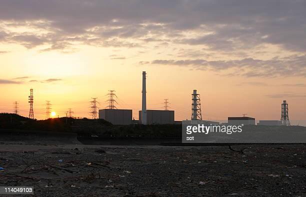 Nuclear Power Plant at dawn