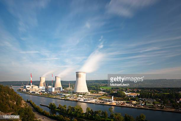 Nuclear Power Station At River Long Exposure