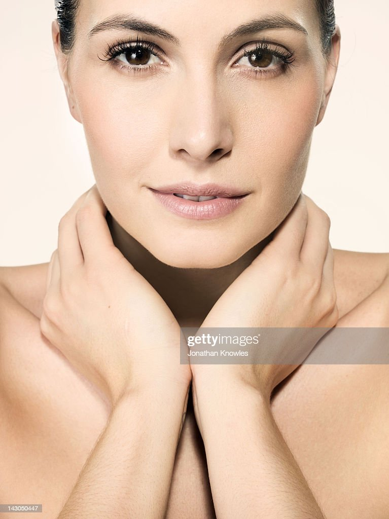 Nude female beauty, head and shoulders : Stock Photo