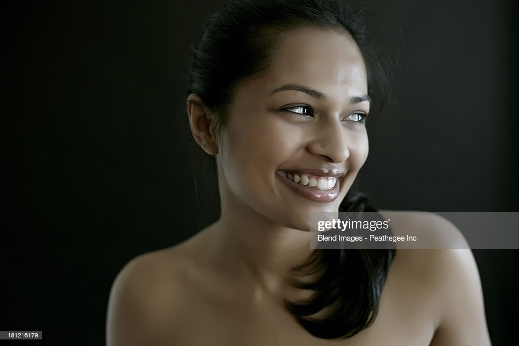 nude indian smiling beautiful naked woman