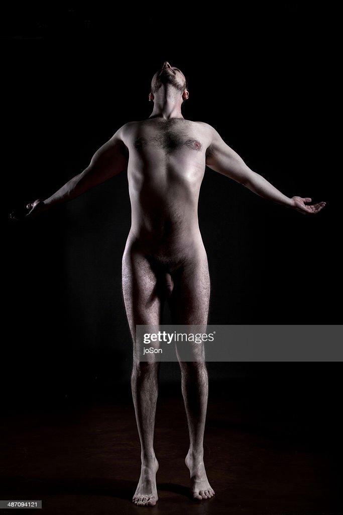 naked male yoga